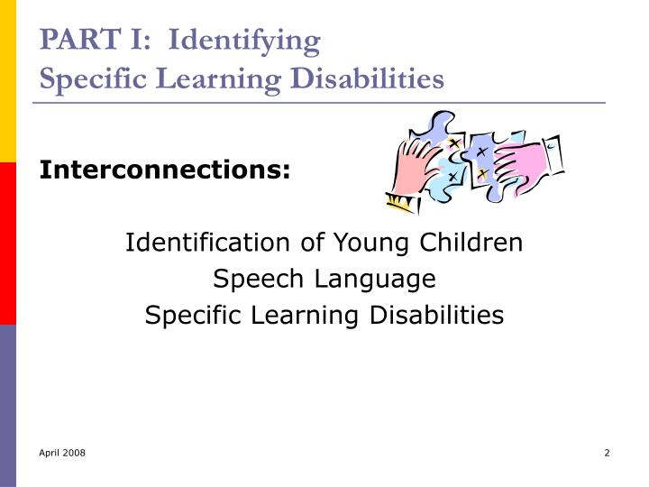 Part i identifying specific learning disabilities