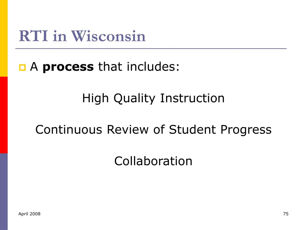 RTI in Wisconsin