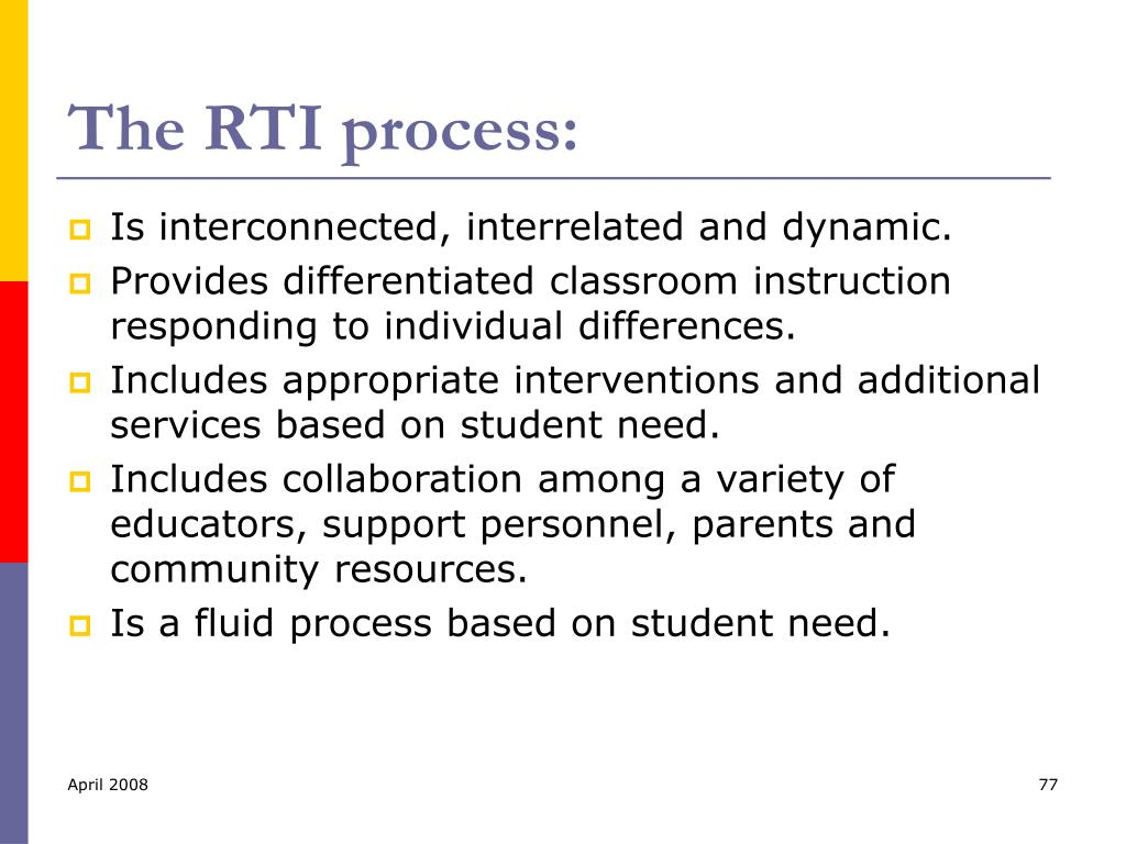 The RTI process: