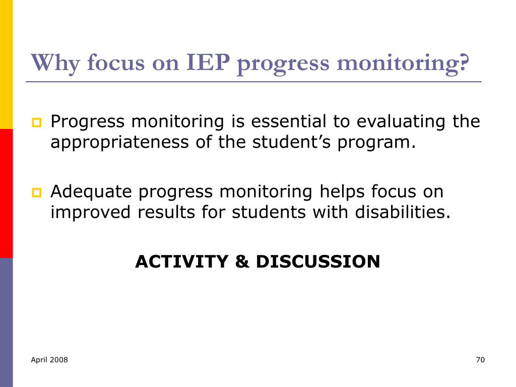 Why focus on IEP progress monitoring?
