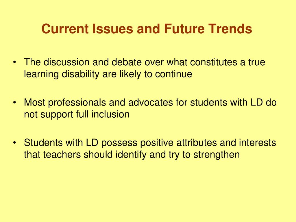Current Issues and Future Trends