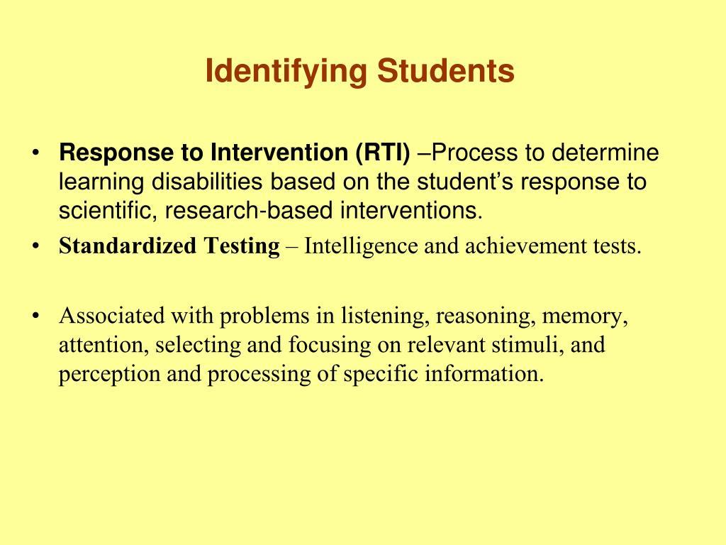 Identifying Students