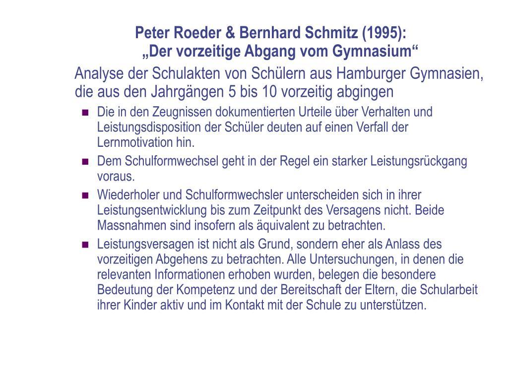 Peter Roeder & Bernhard Schmitz (1995):