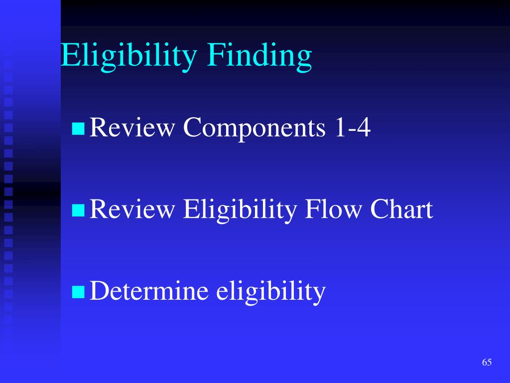 Eligibility Finding