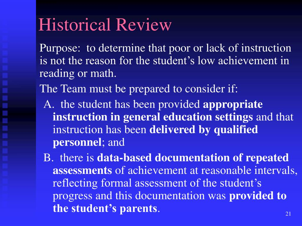 Historical Review