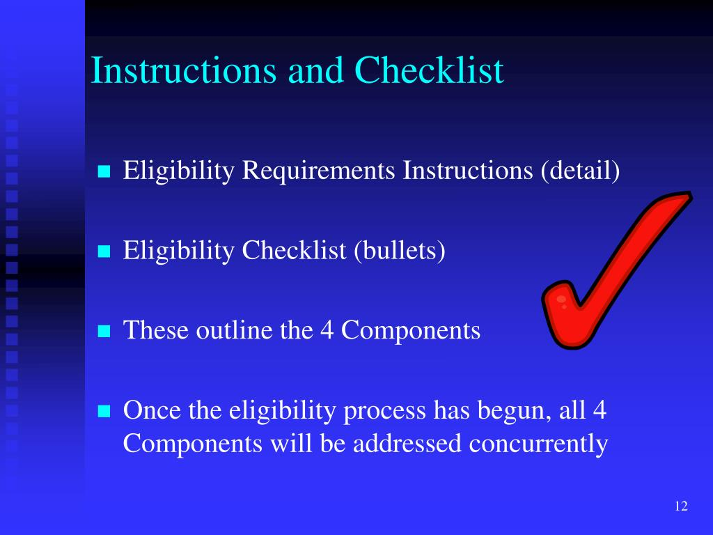 Instructions and Checklist