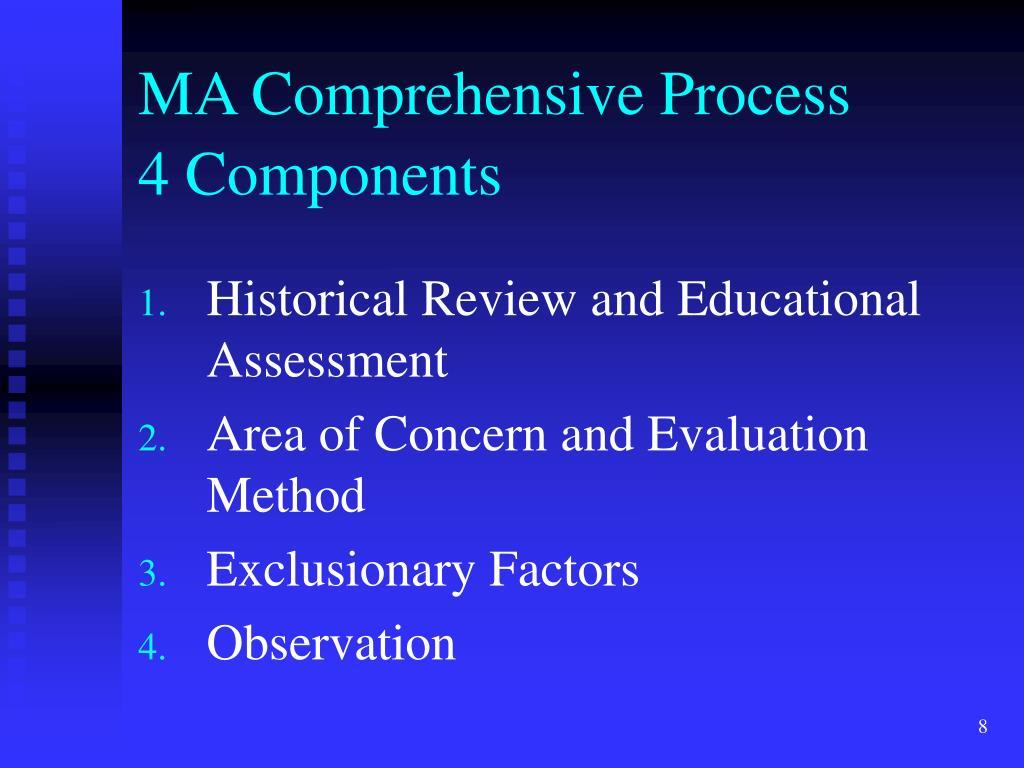 MA Comprehensive Process