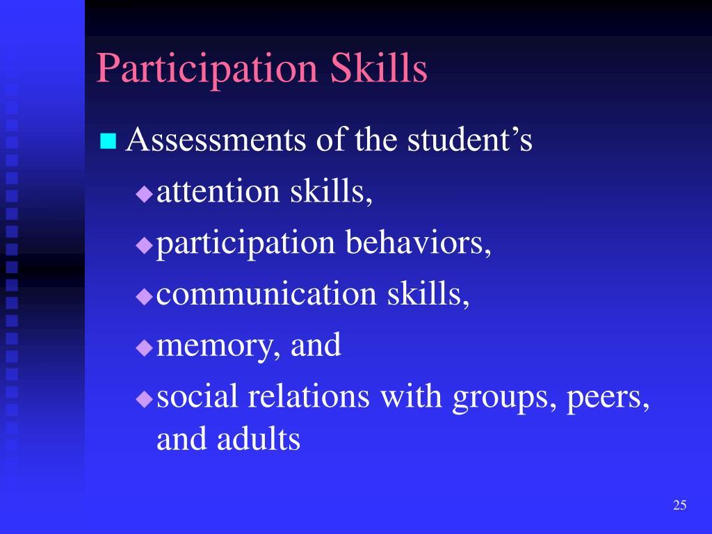 Participation Skills