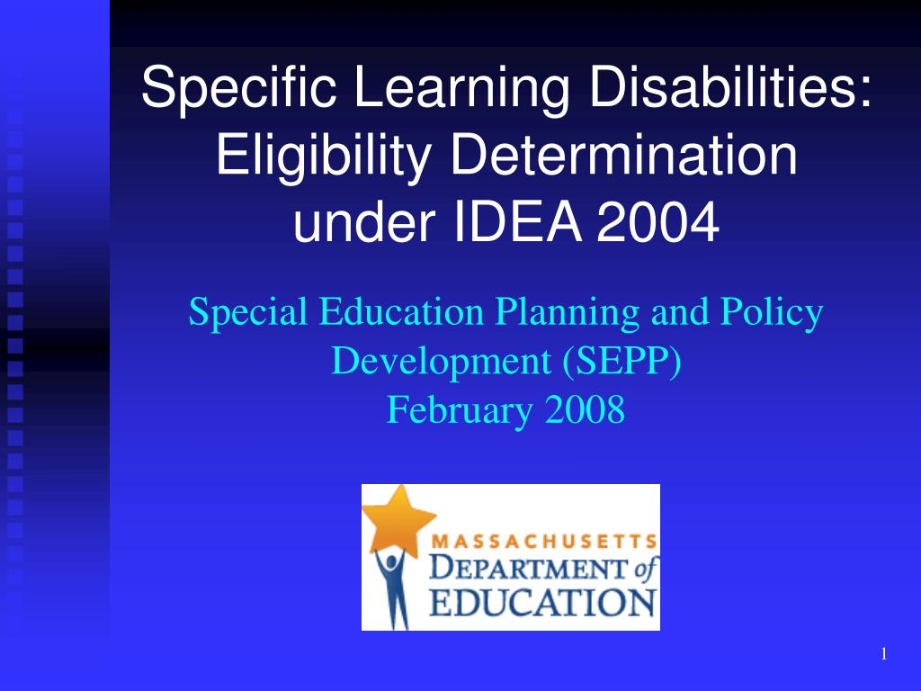 Specific Learning Disabilities: