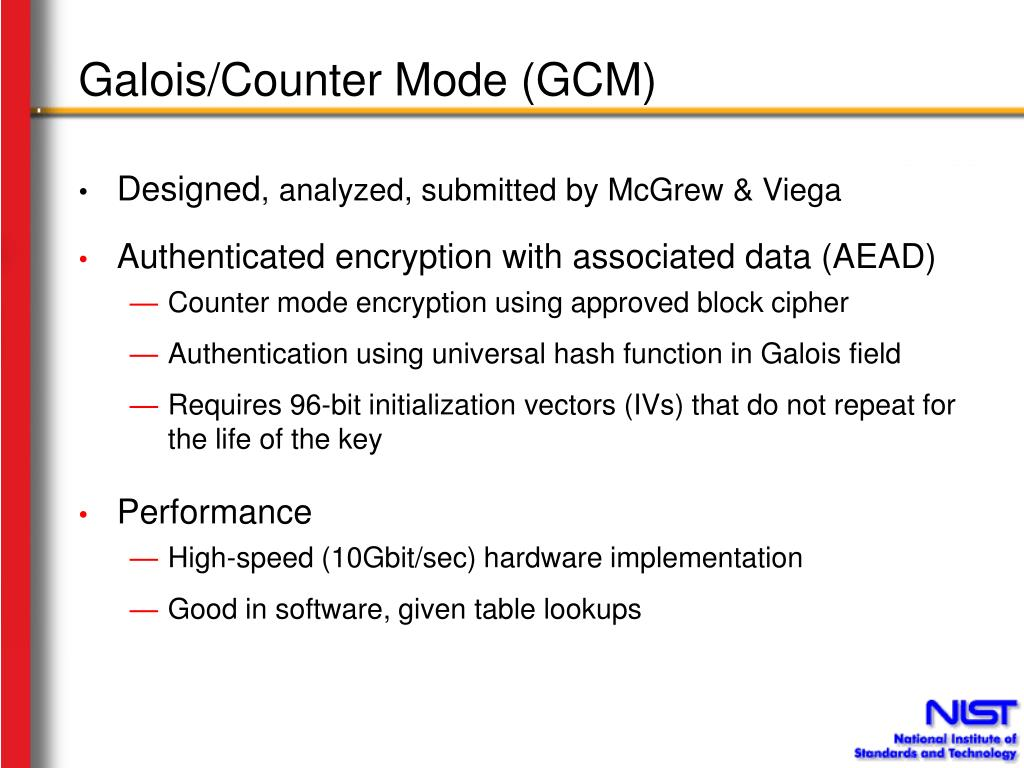 Galois/Counter Mode (GCM)