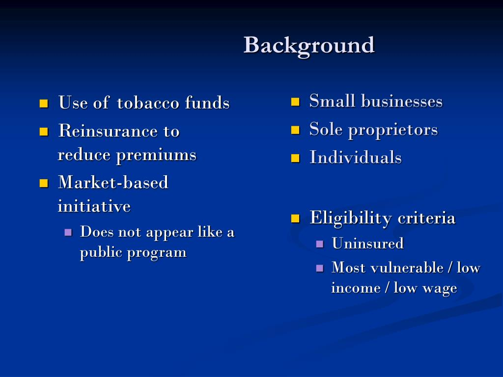 Use of tobacco funds