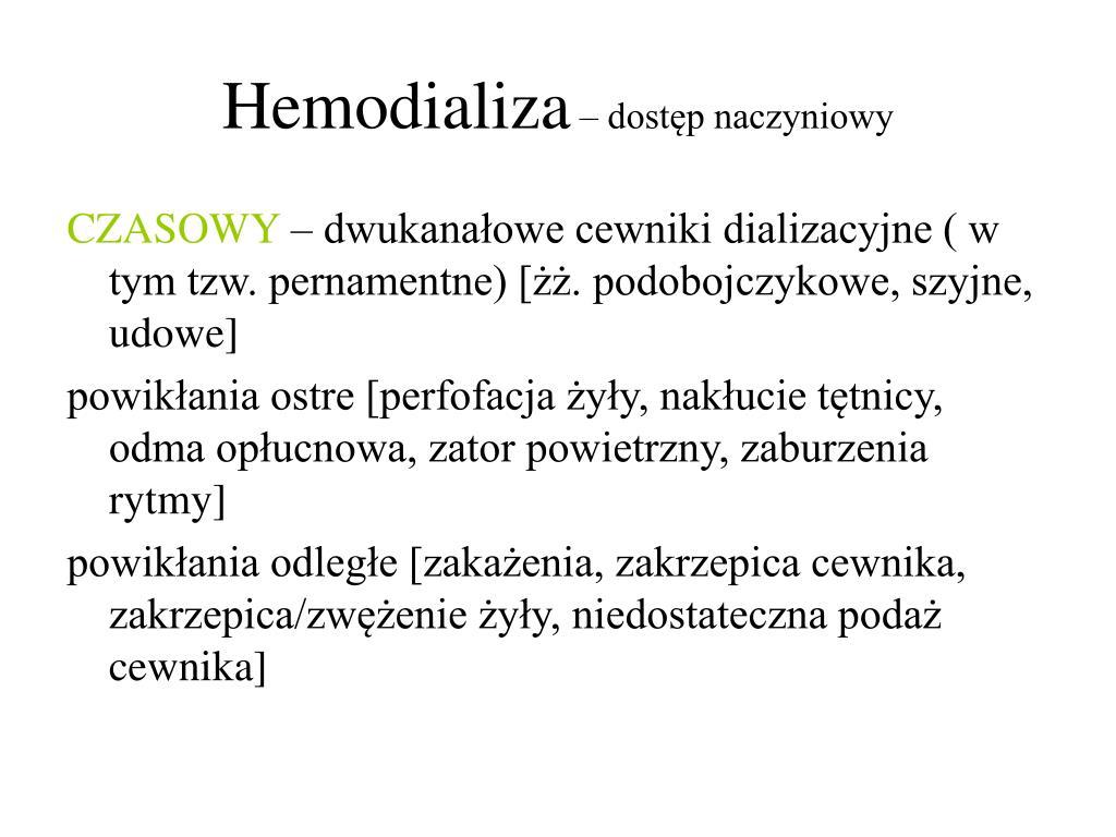 dializa hemodializa