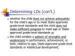 determining lds con t