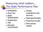 measuring what matters the state performance plan