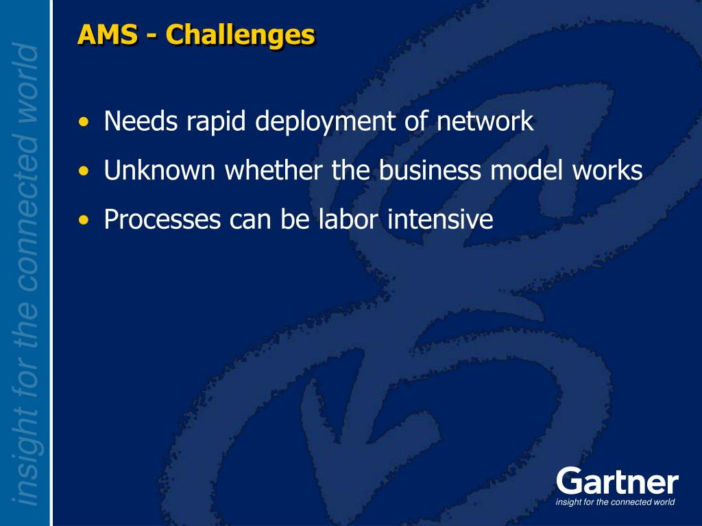 AMS - Challenges