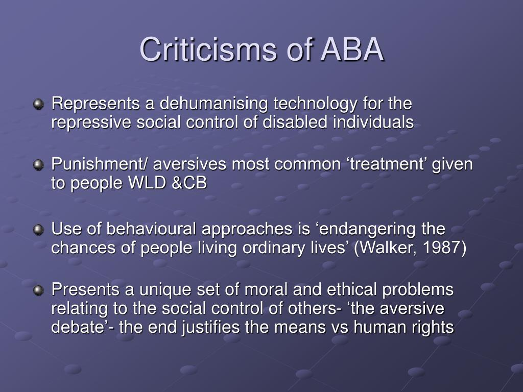 Criticisms of ABA