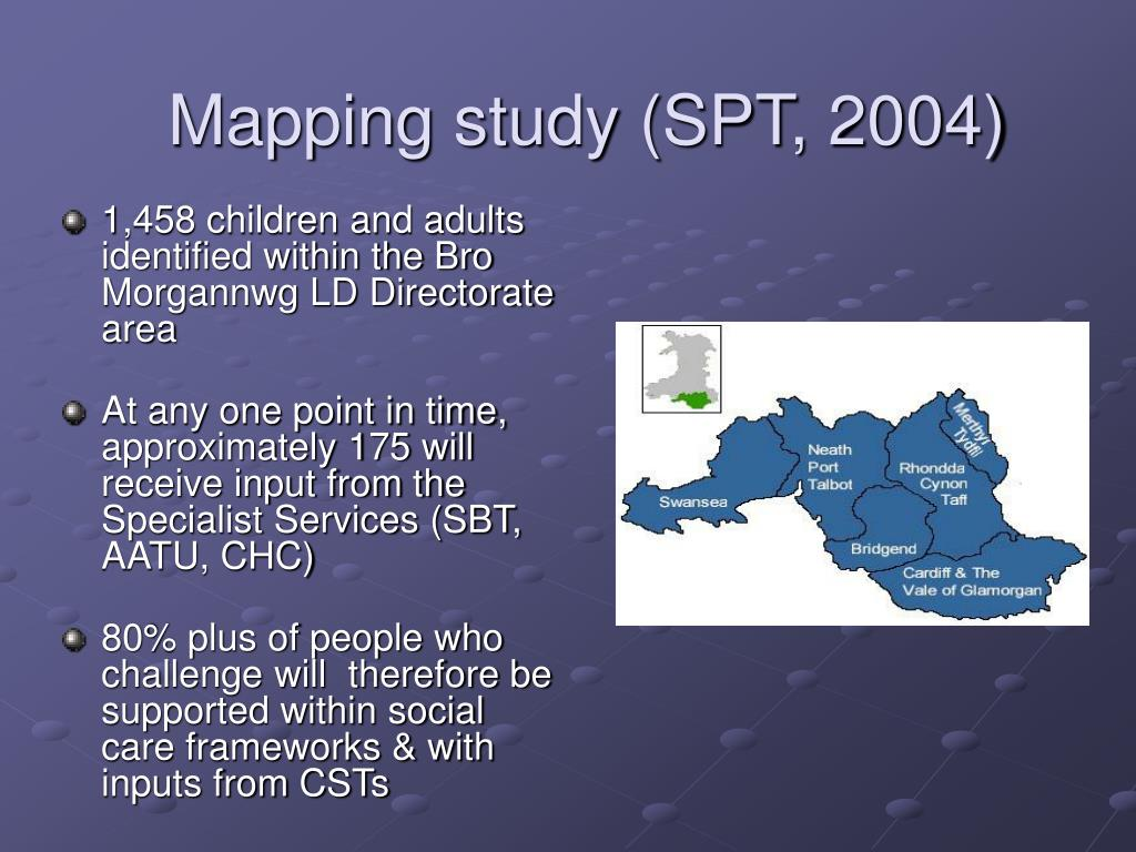 Mapping study (SPT, 2004)