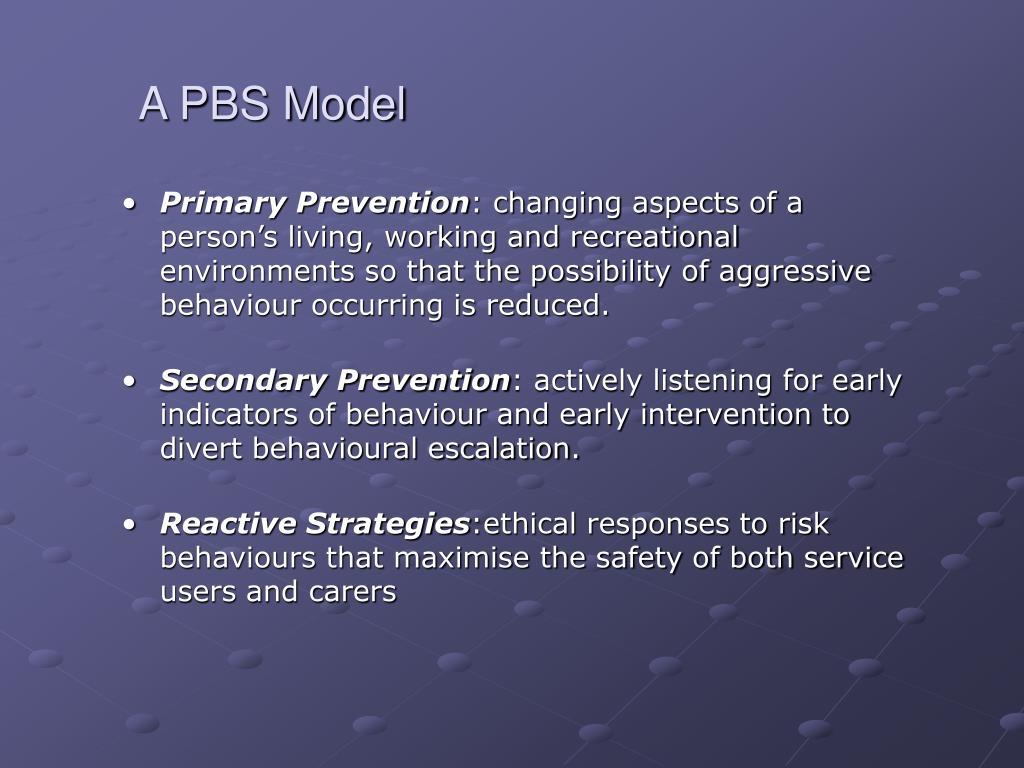 A PBS Model