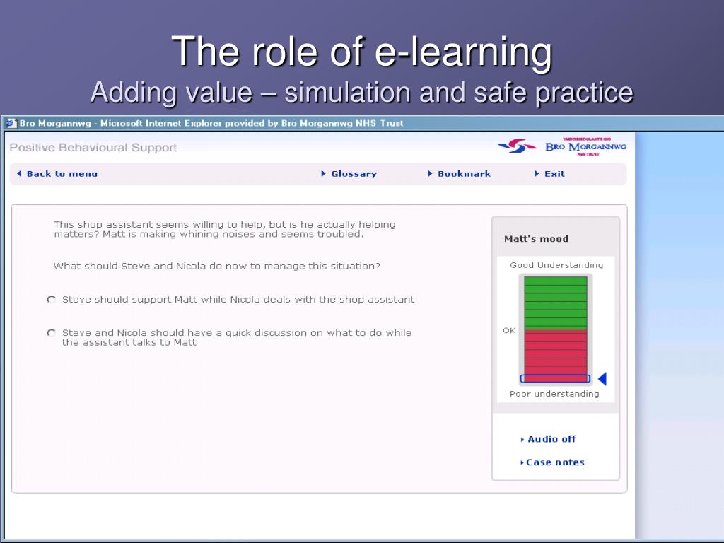 The role of e-learning