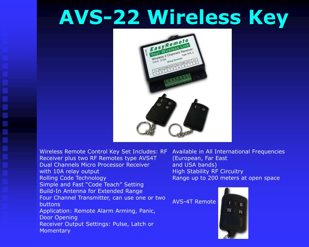 AVS-22 Wireless Key
