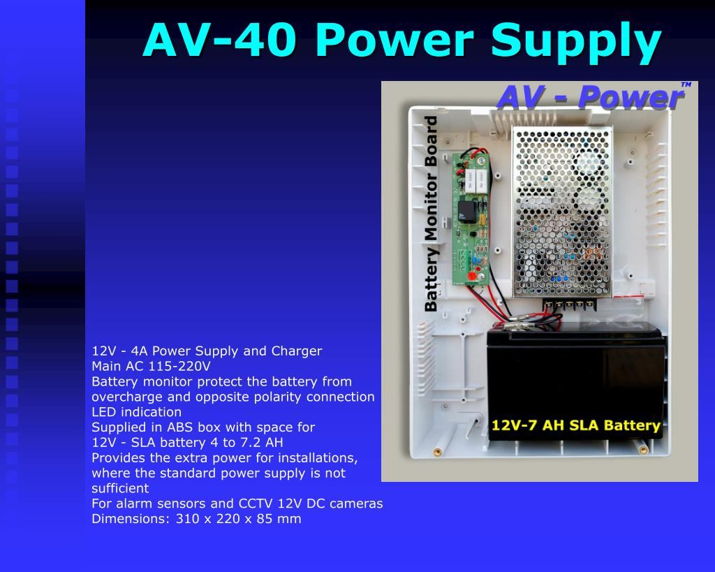 AV-40 Power Supply