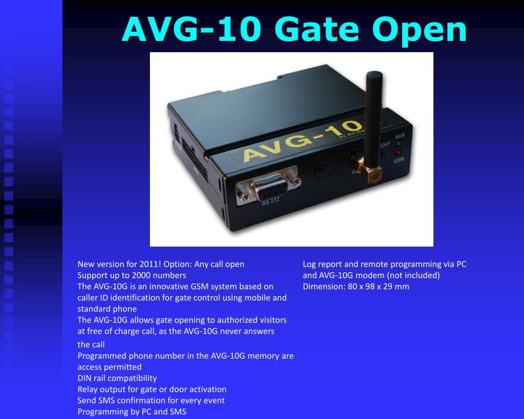 AVG-10 Gate Open