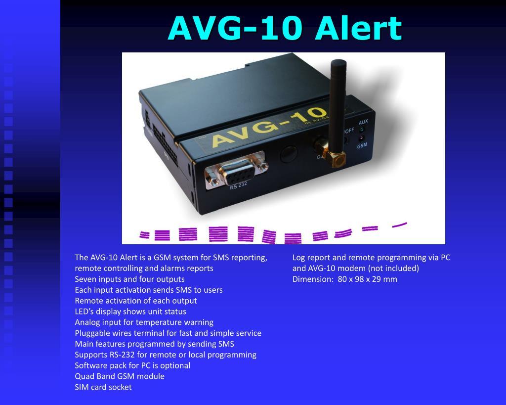 AVG-10 Alert