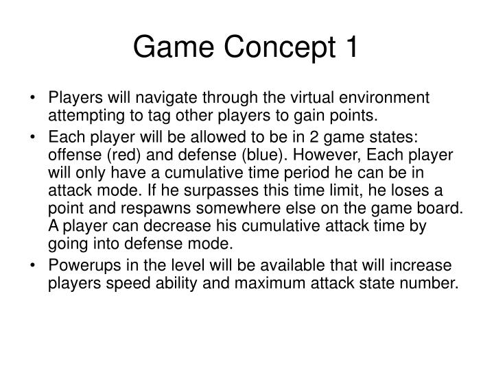 Game concept 1