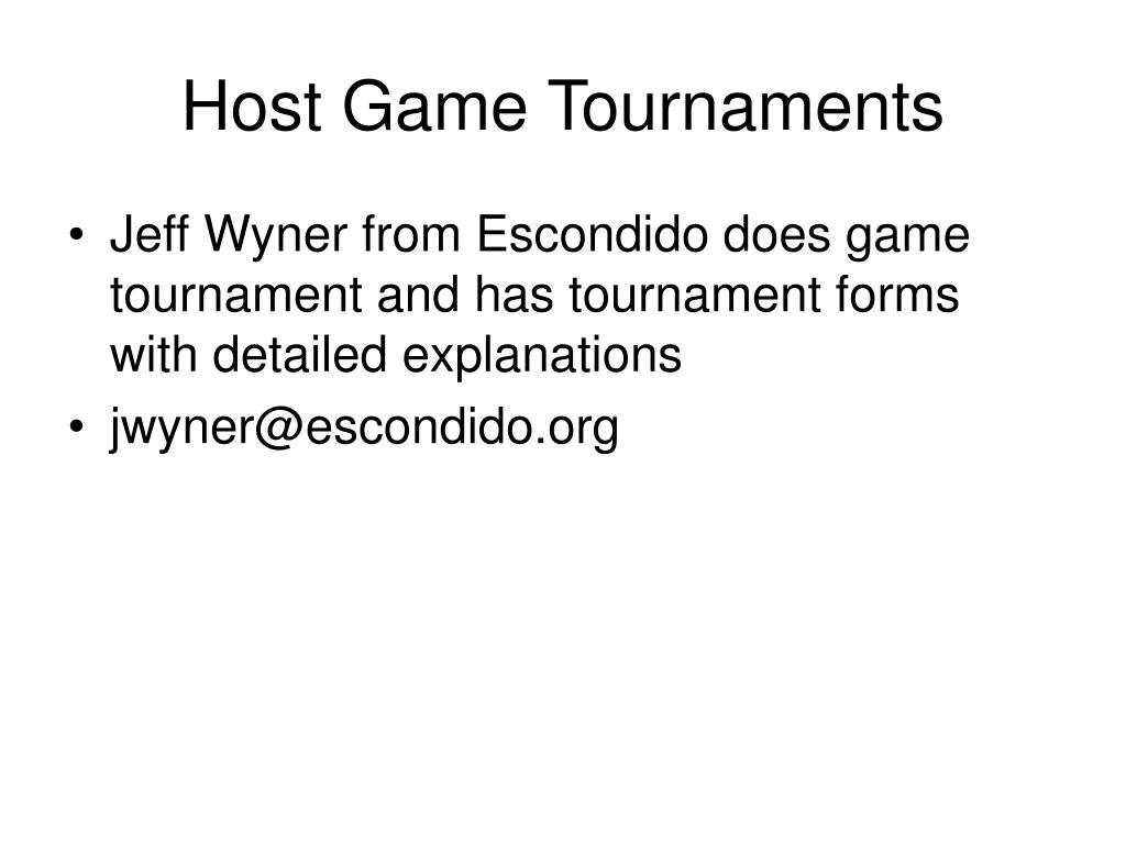Host Game Tournaments