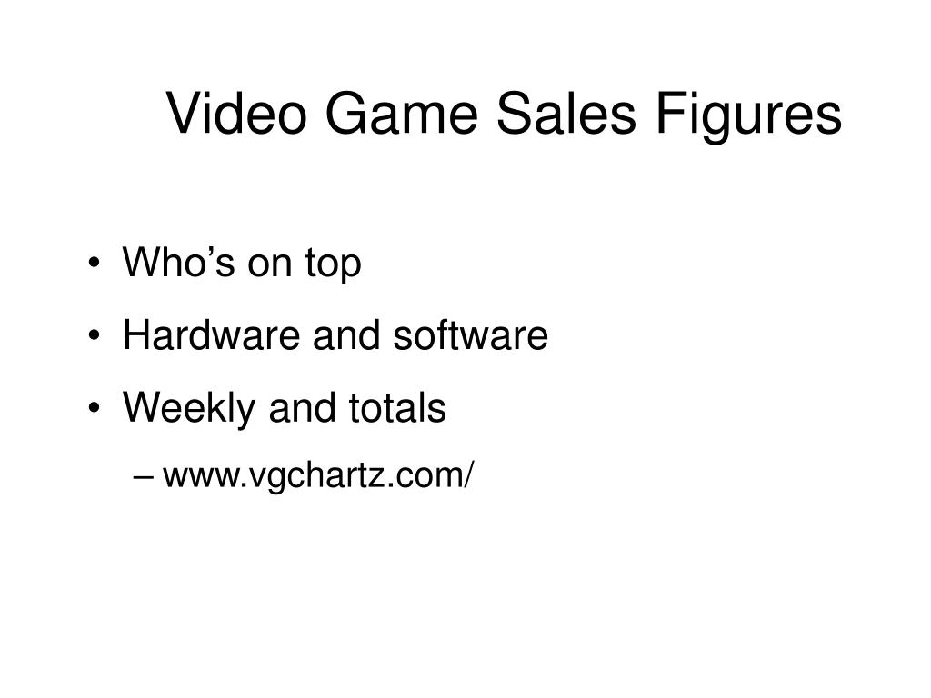 Video Game Sales Figures
