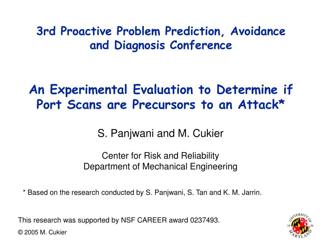 3rd Proactive Problem Prediction, Avoidance