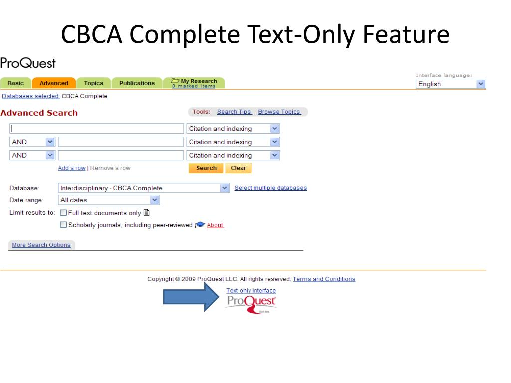CBCA Complete Text-Only Feature
