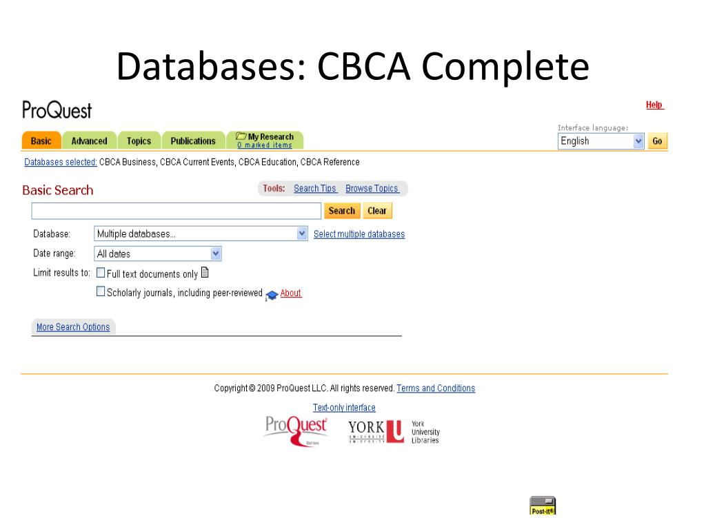 Databases: CBCA Complete