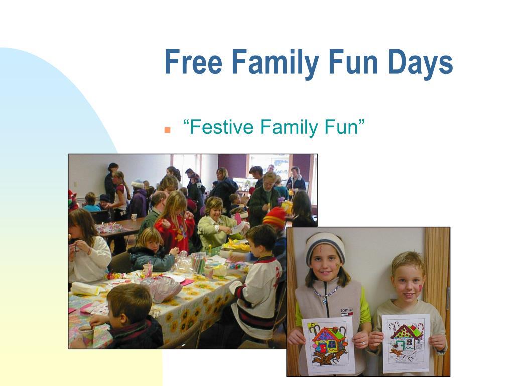 Free Family Fun Days