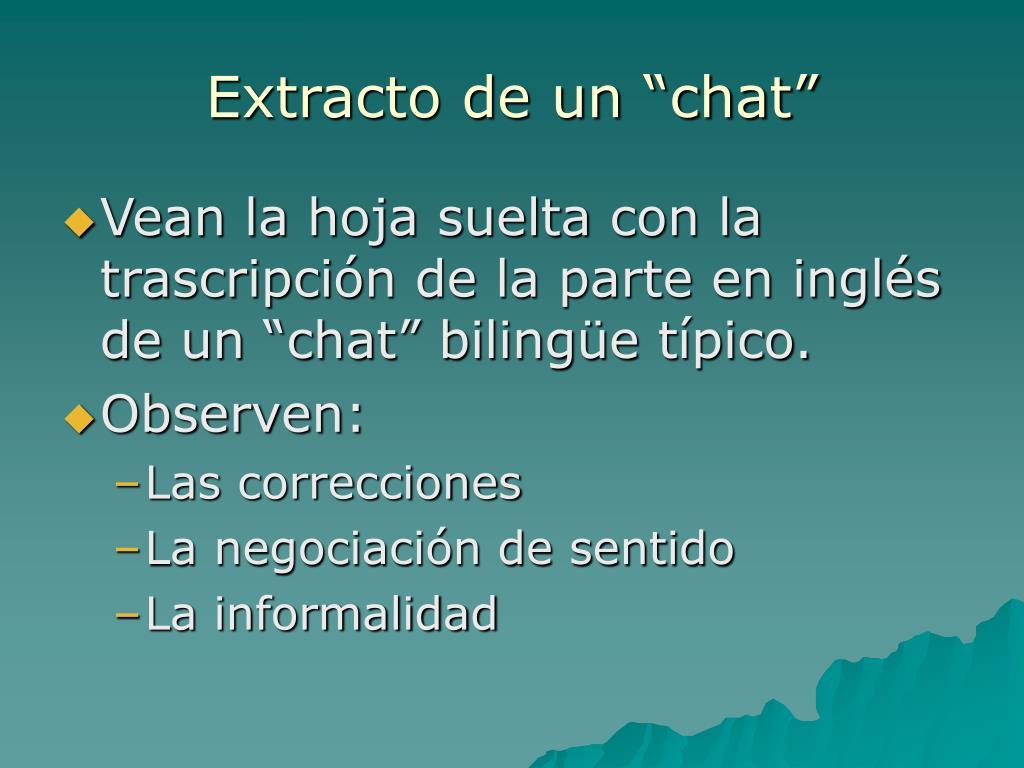 """Extracto de un """"chat"""""""