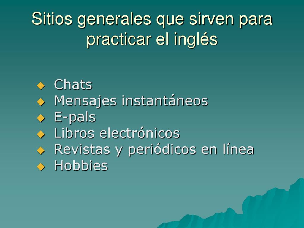 Sitios generales que sirven para practicar el inglés
