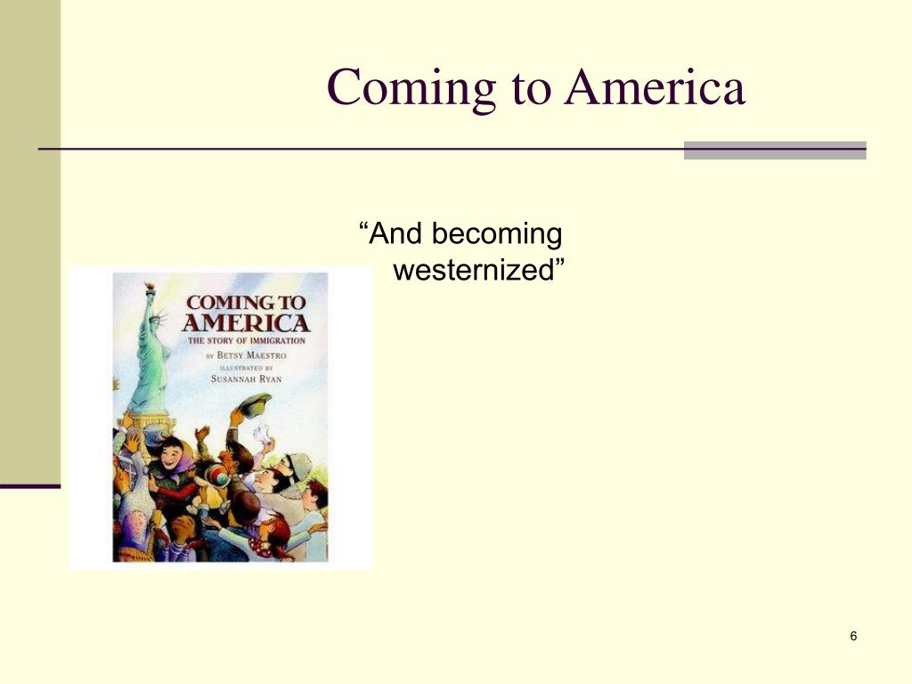 """""""And becoming westernized"""""""