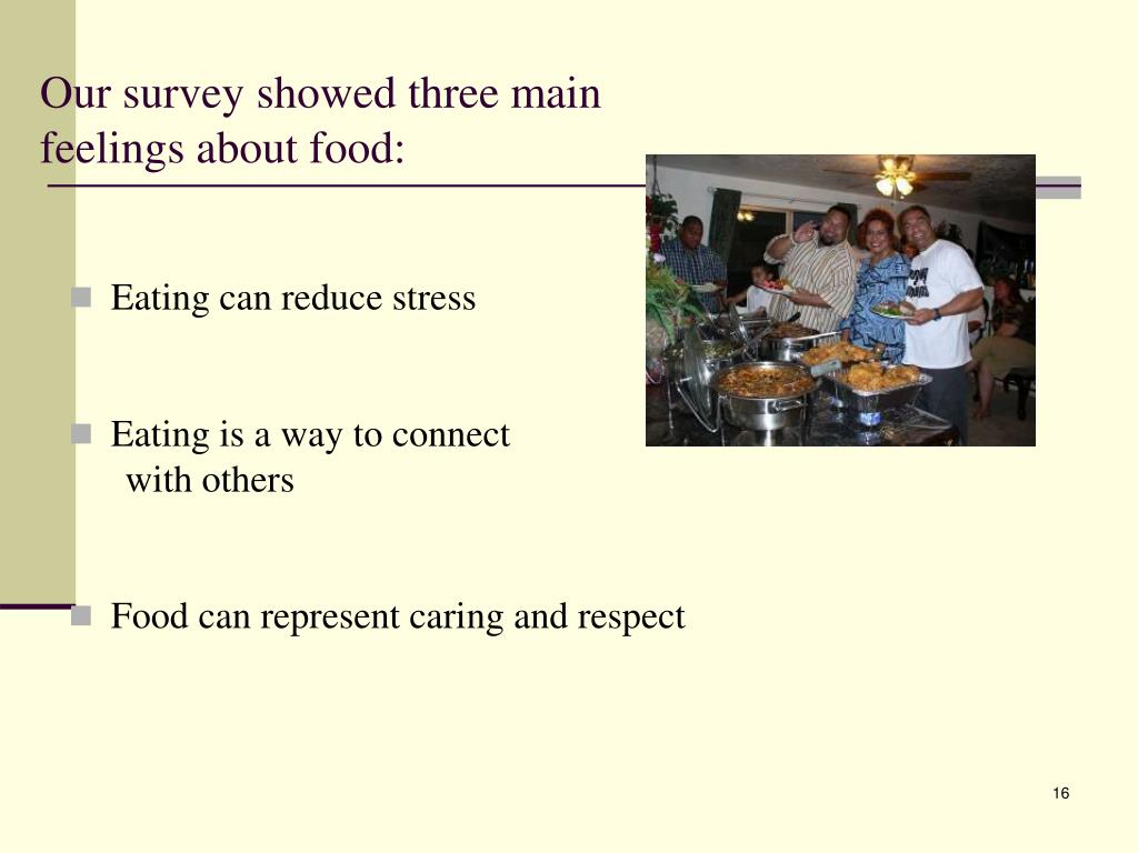 Eating can reduce stress