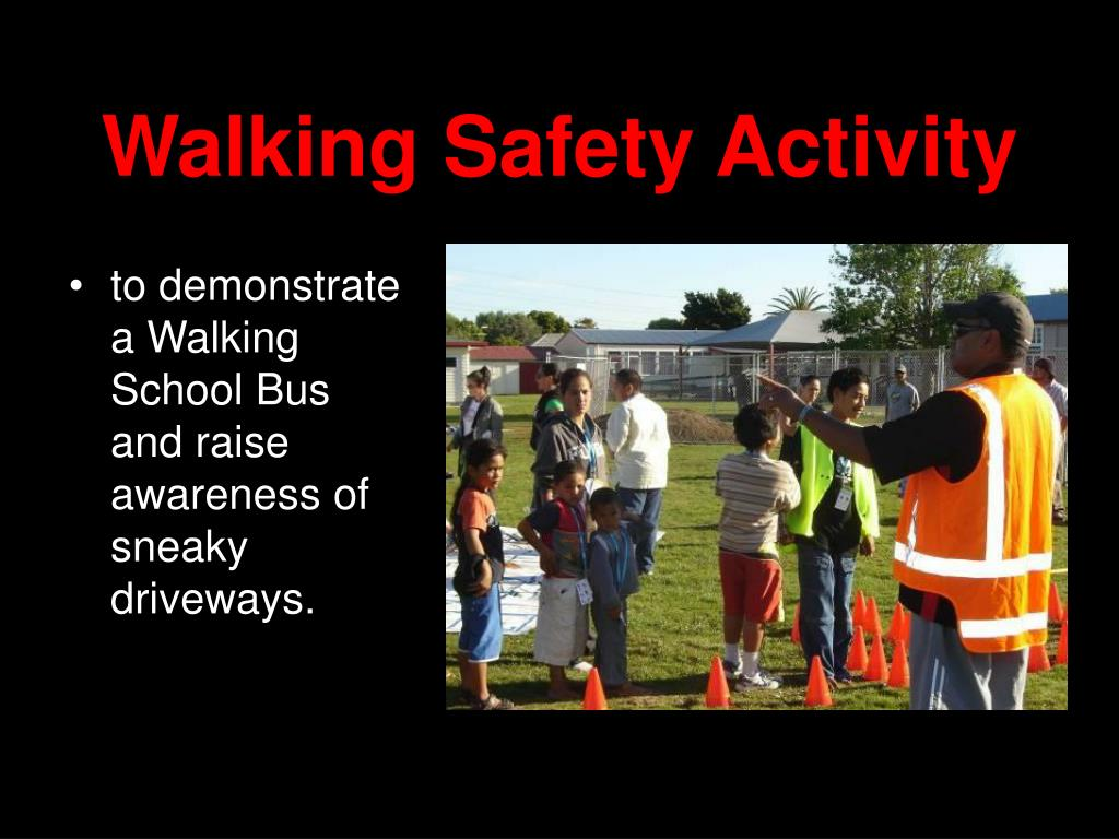 Walking Safety Activity