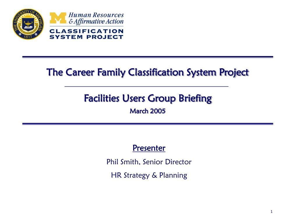 The Career Family Classification System Project