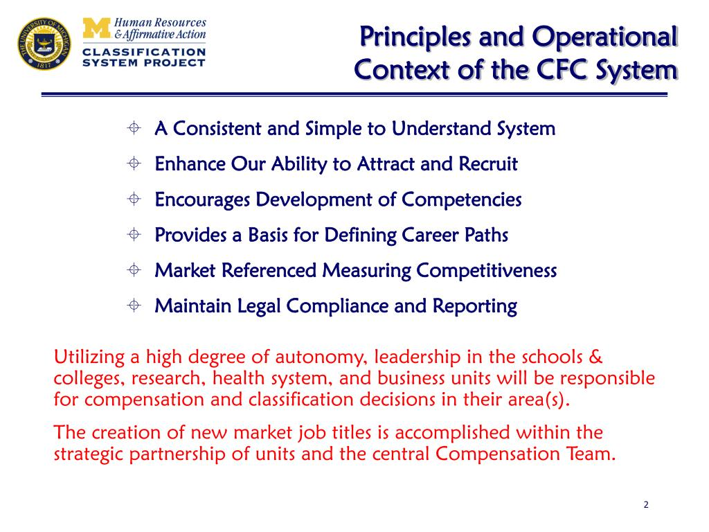 Principles and Operational