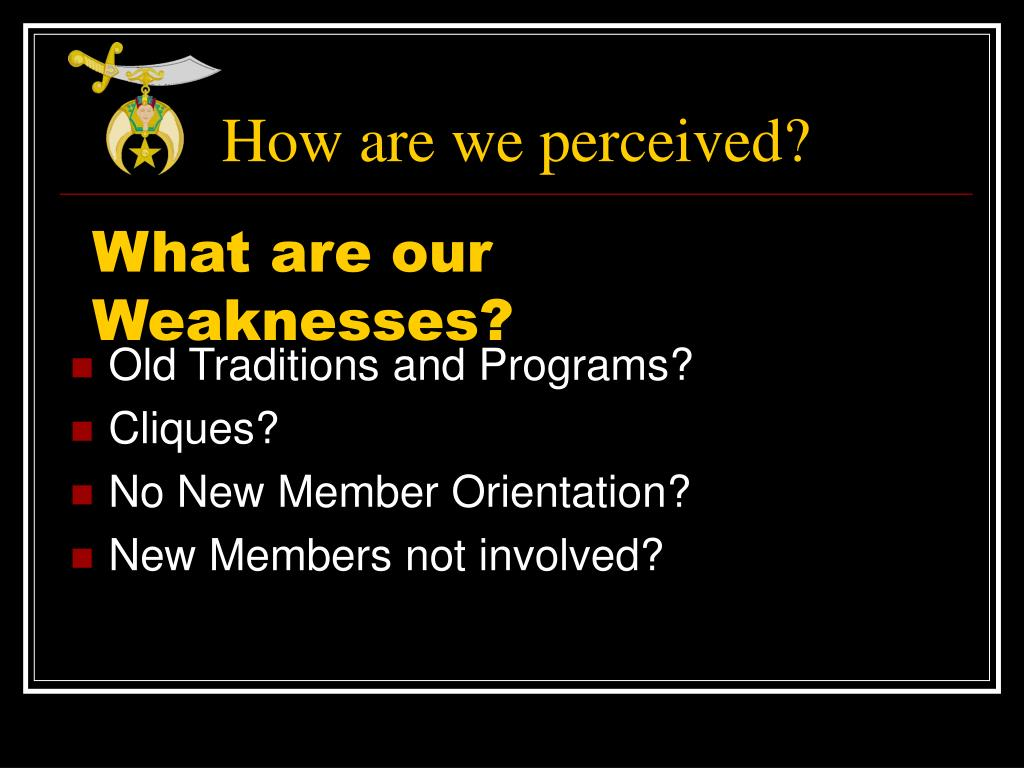 How are we perceived?
