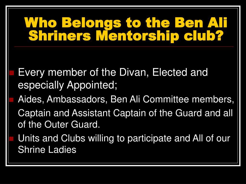 Who Belongs to the Ben Ali