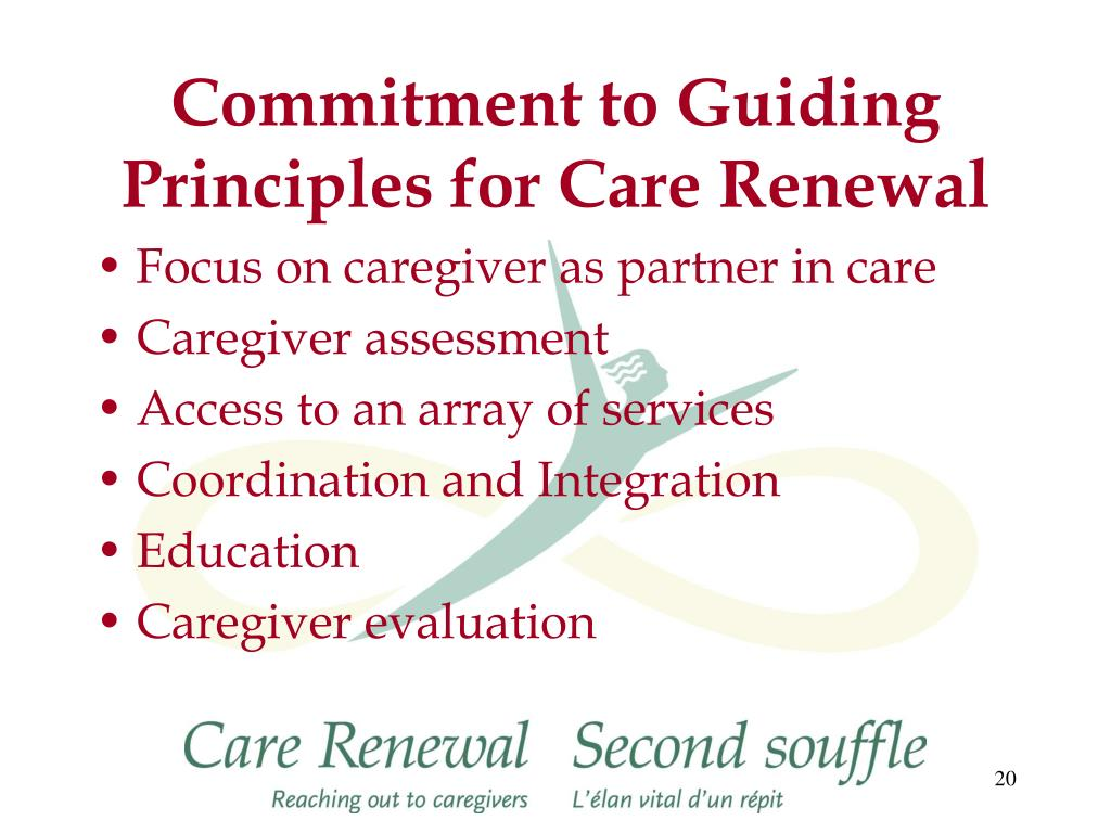 Commitment to Guiding Principles for Care Renewal
