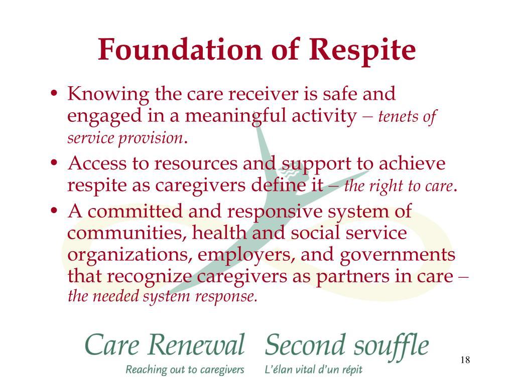 Foundation of Respite