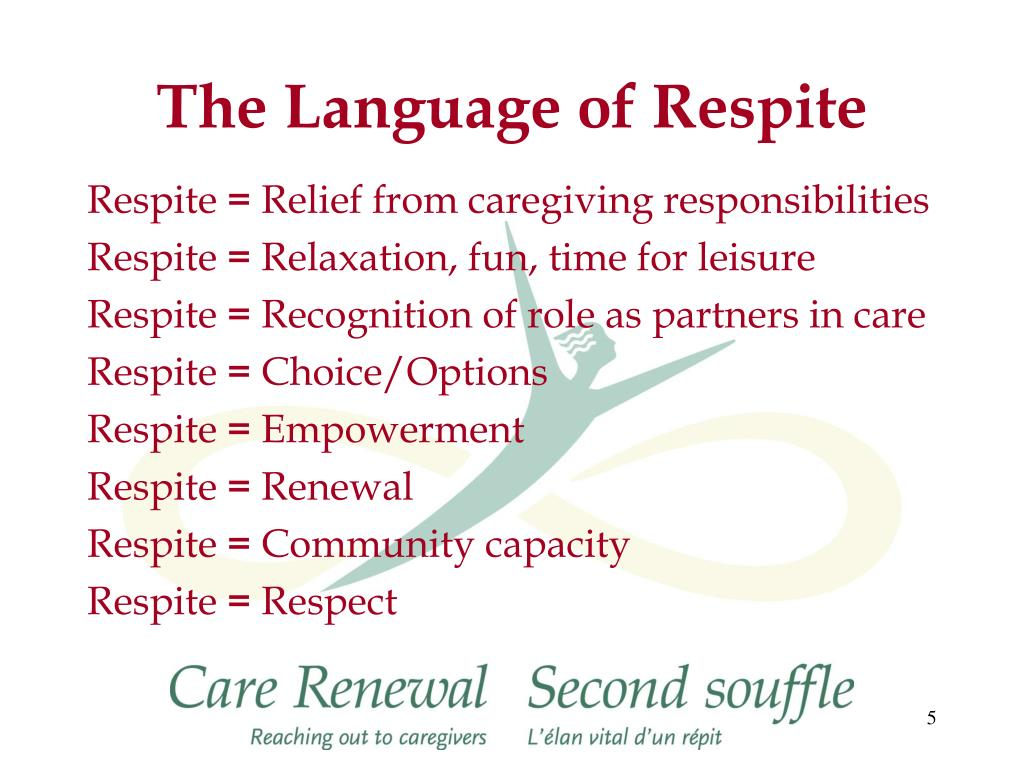 The Language of Respite