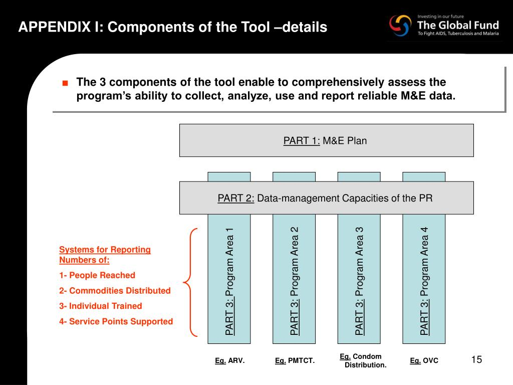 APPENDIX I: Components of the Tool –details