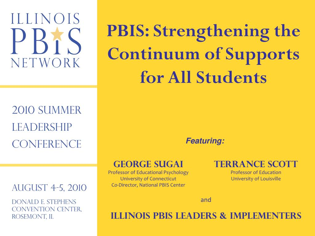 PBIS: Strengthening the Continuum of Supports for All Students