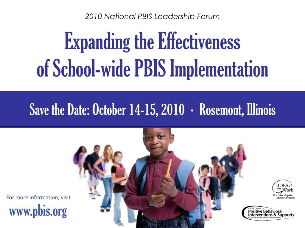 2010 National PBIS Leadership Forum