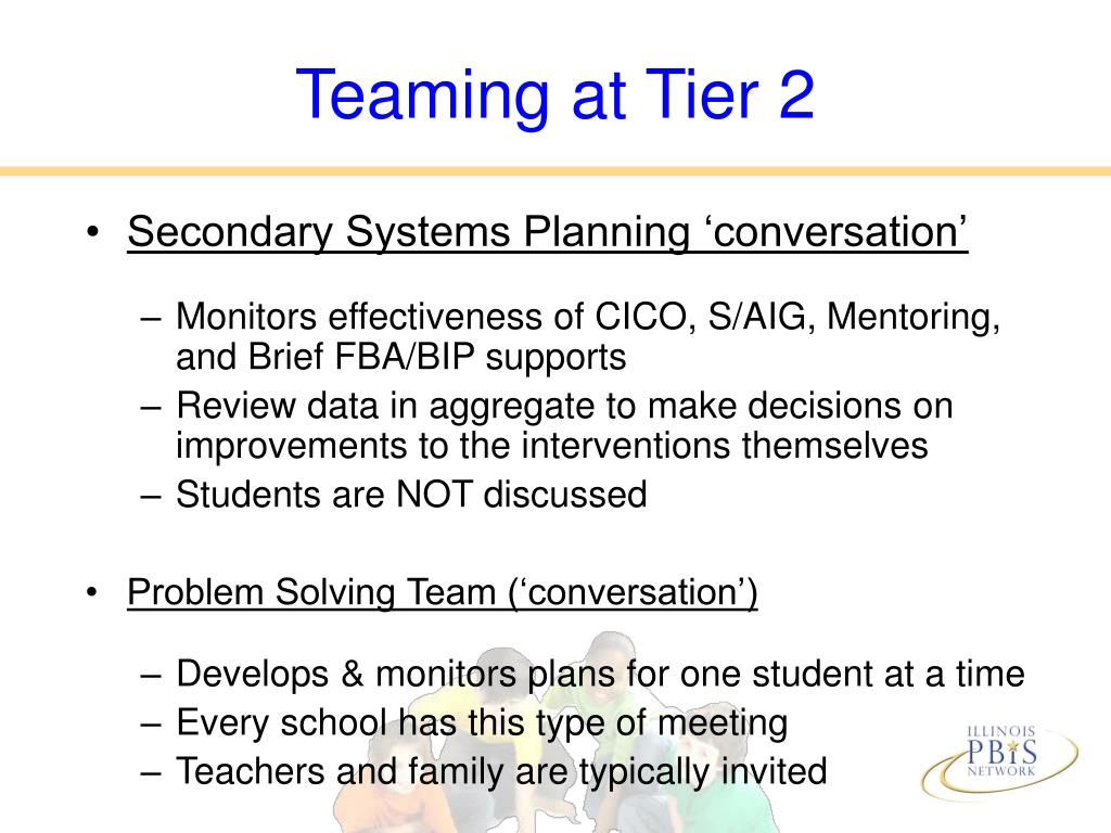 Teaming at Tier 2